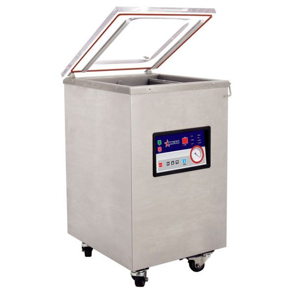 Floor Model Heavy-duty Vacuum Packaging Machine with 1.47 HP and 19 Double Seal Bar