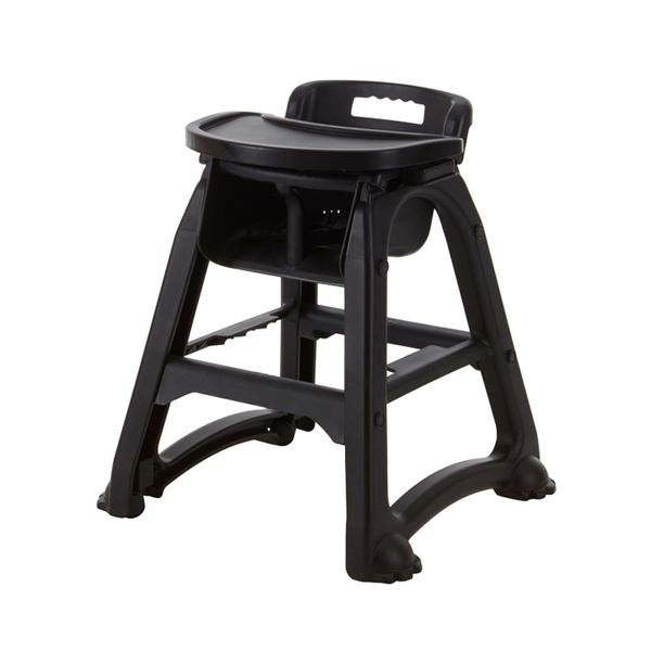 Black Baby Dinner High Chair with Tray