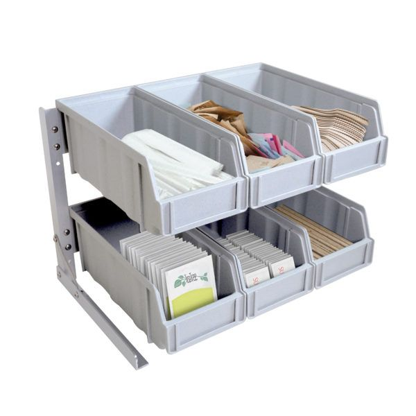 Plastic Condiment Organizer with Removable Compartments