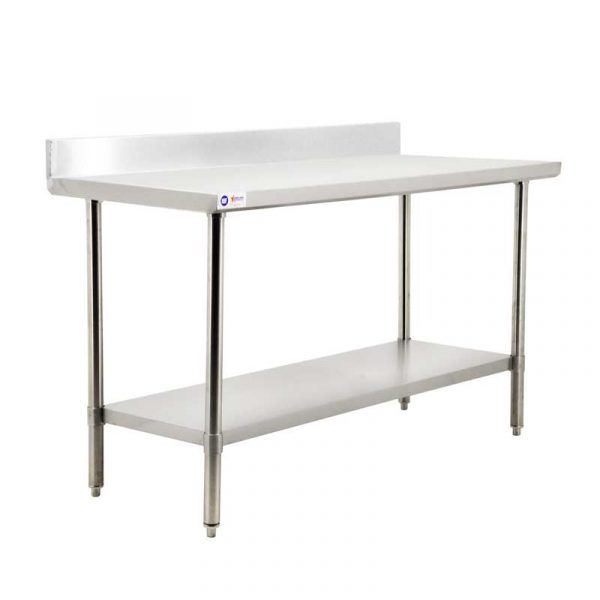 24 x 84 All Stainless Steel Work Table with Backsplash