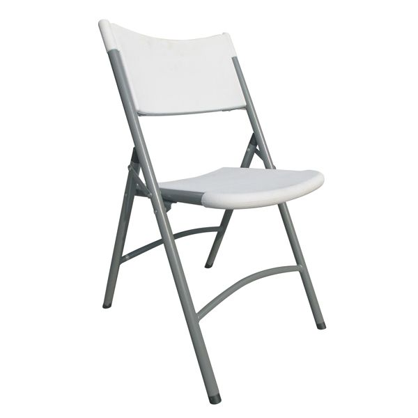 Folding Chair with Grey Metal Frame