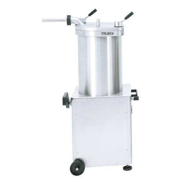 Stainless Steel Hydraulic Piston Sausage Stuffer-95 lb capacity (220V-60Hz-1Ph)