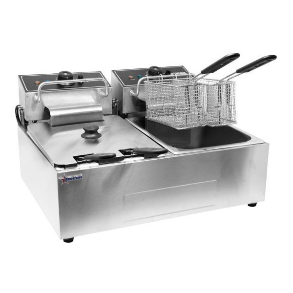 220 V Double Table Top Electric Fryer