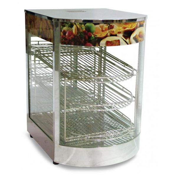 14-inch Curved Glass Display Warmer with 0.85 kW