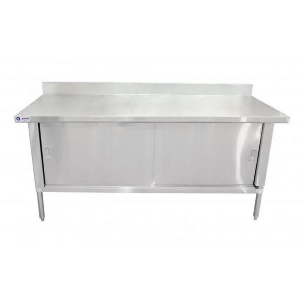 30 x 60 304 Stainless Steel Knock-down Worktable with 4 Backsplash