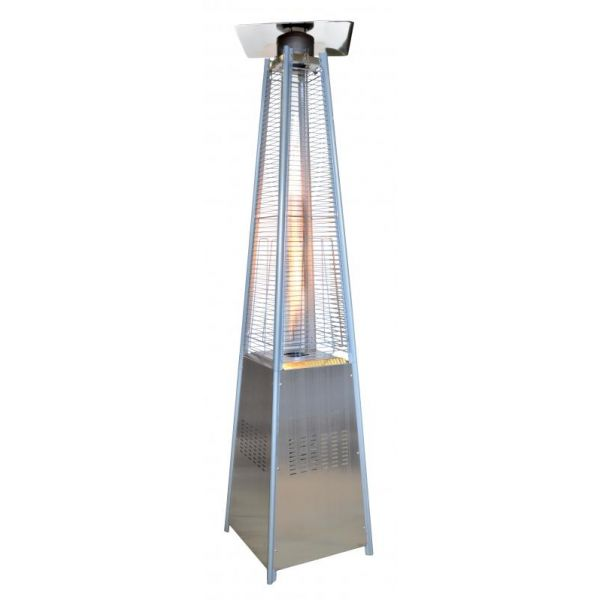Outdoor Pyramid-Style Patio Heater with Stainless Steel Body