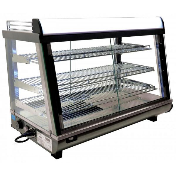 35-inch Display Warmer with 136 L Capacity and Front and Back Doors