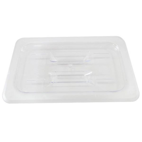 Polycarbonate Quarter-size Clear Solid Cover for Food Pan