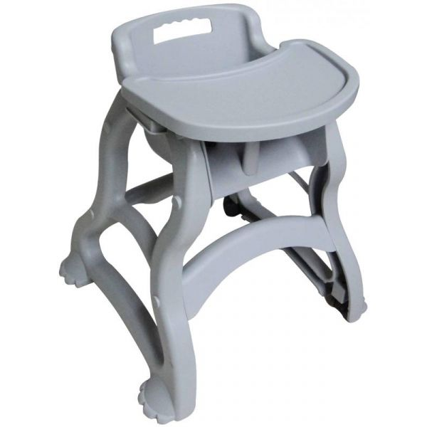 Gray Baby Diner High Chair with Tray