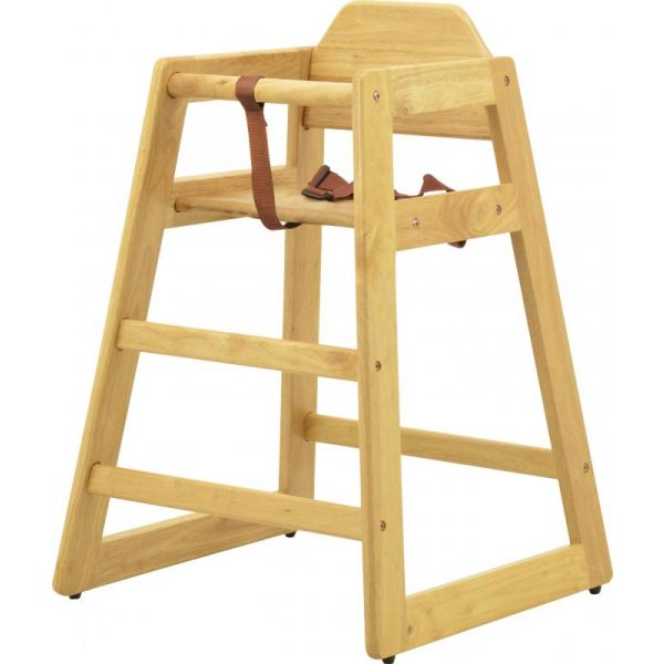 Commercial Natural Wooden High Chair