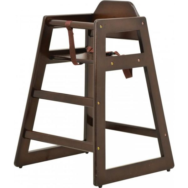 Commercial Walnut Wooden High Chair