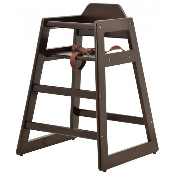 Commercial Mahogany Wooden High Chair
